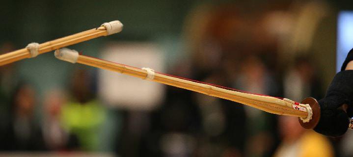 剣道における竹刀での攻防